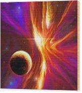 Intersteller Supernova Wood Print by James Christopher Hill