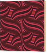 Intertwined Red Abstract Wood Print