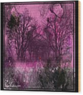 Into A Dark Pink Forest Wood Print