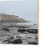 Into Lake Superior Wood Print
