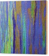 Into The Blue Abstract 2 Wood Print