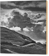 Into The Clouds Wood Print by Andrew Soundarajan