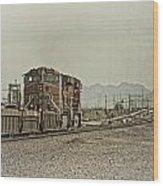 Into The Mojave Wood Print