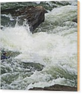 Into The Rapids Wood Print