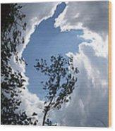 Into The Sky Wood Print