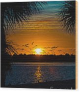 Into The Sunset Wood Print by Anne Kitzman