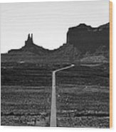 Into The Valley Of Monuments Wood Print