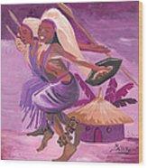 Intore Dance From Rwanda Wood Print