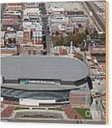Intrust Bank Arena And Old Town Wichita Wood Print