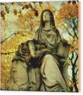 Invasion Of Autumn Wood Print