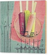 Invention Of The Ice Pop Wood Print