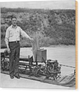 Inventor Of First Snowmobile Wood Print