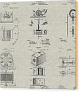 Inventors Patent Collection Wood Print