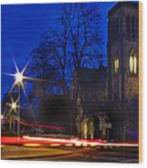Inverness Cathedral At Night Wood Print