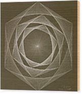 Inverted Energy Spiral Wood Print