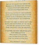 Invictus - Tribute To Nelson Mandela Wood Print by Ginny Gaura