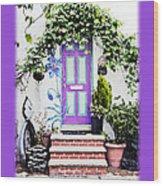 Invitation Greeting Card - Street Garden Wood Print