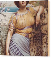 Ionian Dancking Girl Wood Print