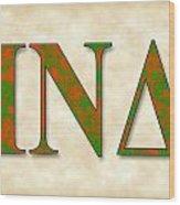 Iota Nu Delta - Parchment Wood Print