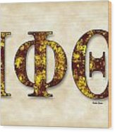 Iota Phi Theta - Parchment Wood Print