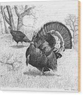 Iowa Gobbler Wood Print