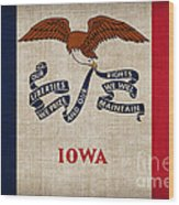 Iowa State Flag Wood Print by Pixel Chimp