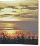 Iowa Sunrise Panorama Wood Print