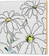 iPhone-Case-Flower-Daisy2 Wood Print