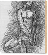 iPhone-Case-Nude-Male1 Wood Print