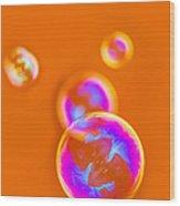 iPhone Case - Orange Bubbles Wood Print