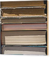 iPhone Case - Pile Of Books Wood Print