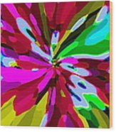 Iphone Cases Colorful Flowers Abstract Roses Gardenias Tiger Lily Florals Carole Spandau Cbs Art 179 Wood Print by Carole Spandau