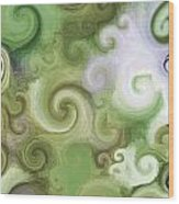 Iphone Green Swirl Abstract Wood Print