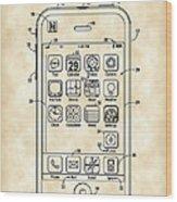 iPhone Patent - Vintage Wood Print