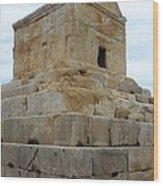 Iran Cyrus Tomb Pasargadae Wood Print