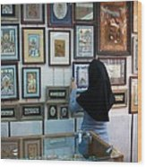 Iran Isfahan Art Shop Wood Print