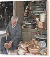 Iran Isfahan Copper Artisan Wood Print