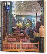 Iran Isfahan Restaurant Wood Print