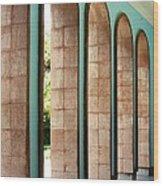 Iran Saadi Monument Shiraz Wood Print