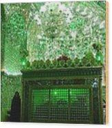 Iran Shiraz Mausoleum Wood Print