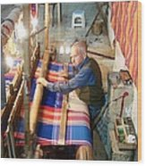 Iran Textile Weaver Wood Print