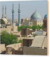 Iran Yazd From The Rooftops  Wood Print