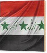 Iraq Flag Wood Print