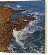 Ireland Rocky Coast Wood Print