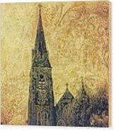 Ireland St. Brendan's Cathedral Spire Wood Print