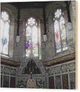 Ireland St. Brendan's Cathedral Stained Glass Wood Print