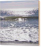 Iridescent Waves Wood Print