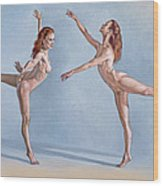 Irina Dancing Wood Print by Paul Krapf