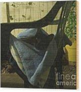 Irina Lounging On A Chair Wood Print