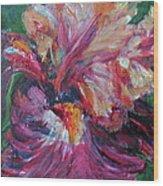 Iris - Bold Impressionist Painting Wood Print